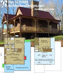 plan 92319mx flexible mountain cottage architectural design