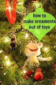how to make ornaments from toys diy ornaments