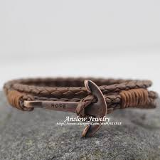 leather bracelet with anchor images R i leather hope anchor bracelet give me now jpg