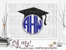monogram graduation cap graduation cap monogram frame frame gradcap 2 00 oh my