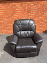 dark grey leather recliner chair miscellaneous goods gumtree