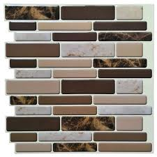 6 pieces premium anti mold peel and stick wall tile in marble style