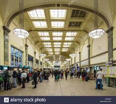 Art Deco Interior by Art Deco Interior Of Cardiff Central Railway Station In Wales Busy