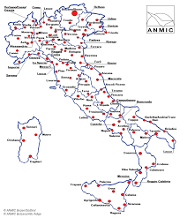 Italian Map The Anmic Has Branches In 104 Italian Cities Anmic South Tyrol
