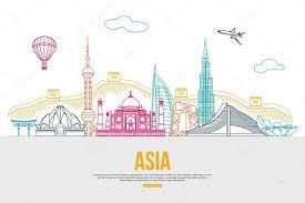travel asia images Asia travel background stock vector vectorgift 80041068 jpg