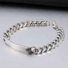 monogram bracelet silver men women monogram bracelet stainless steel name bracelet