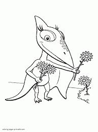 cartoon baby dinosaur coloring page animals dinosaurs prehistoric