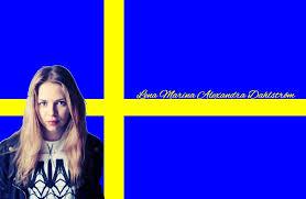 Sweedish Flag Alexandra Swedish Flag Wallpaper By Iluvlouis On Deviantart