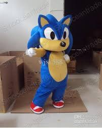 Hedgehog Halloween Costume Sonic Hedgehog Mascot Costume Fancy Dress Horror Costumes