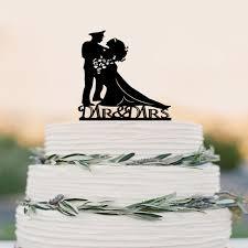 Buy Wedding Cake Aliexpress Com Buy Wedding Cake Topper Silhouette Military Groom