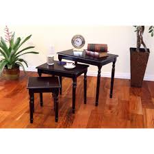 3 piece nesting tables frenchi home furnishing espresso 3 piece nesting end table jw 116a c