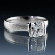 engagement rings cushion cut cushion cut 1 carat diamond modified tension engagement ring