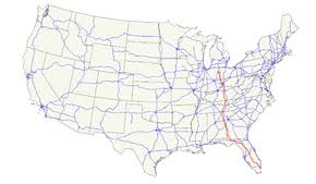 map of the us u s route 27
