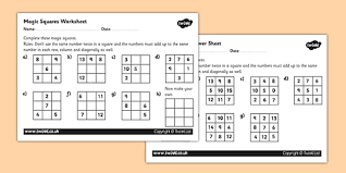 magic squares activity sheet magic squares worksheet magic