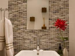 rustic bathroom shower ideas big mirror feat simple wooden rack