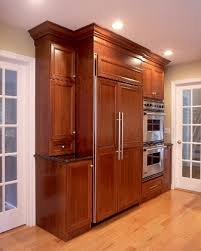 Built In Refrigerator Cabinets Custom Cabinets Titus Built Llc