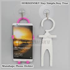 flexible silicone super man shape phone holder wall mount cell