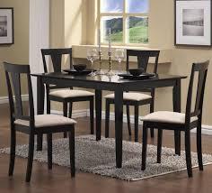 5 piece black bender dining table u0026 4 chairs set u2014 dorsey u0027s