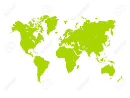 vector map of the world vector map of world green silhouette on white background