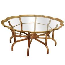 a clear choice u2026vintage baker brass and glass coffee table