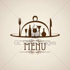 template for menu card with cutlery gl stock images