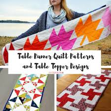 Quilted Table Toppers 30 Free Table Runner Quilt Patterns And Table Topper Designs