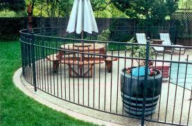 pool fencing curved custom metal gates san francisco bay area