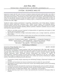 business analyst resume exles business systems analyst resume exles