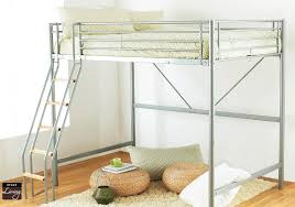 Metal Loft Bed Frame Stylish Bunk Bed For Adults Space Saving Size Loft Beds For Adults