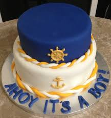 anchor theme baby shower nautical baby shower cake home design