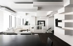monochrome duplex apartment remodeling in paris by pascal grasso