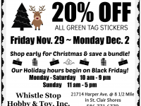 whistle stop hobby s after thanksgiving blowout sale
