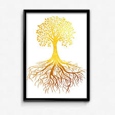 tree of life this elegant printable features a faux gold foil