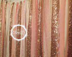 pink u0026 gold sparkle sequin garland curtain with lace nursery