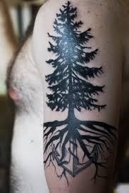 tree roots tattoo