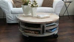 diy pallet round coffee table plans recycled things with regard to