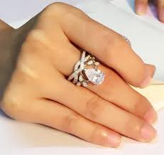 korean wedding rings angelababy with a korean wedding ring inlaid cz luxury micro