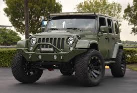jeep rubicon green spotlight custom matte green jeep wrangler
