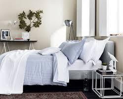 blue pinstripe bedding fine stripe bed linen at bedeck 1951