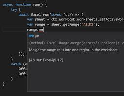 javascript merging excel cells using office js stack overflow