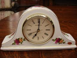 royal albert old country roses sweet rose figurine ra26 clock