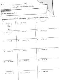 Exponential Functions Word Problems Worksheet Solving Two Step Equations Worksheet 8th Grade Answers Tessshebaylo