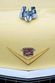 1955 cadillac coupe ornament emblem photograph by