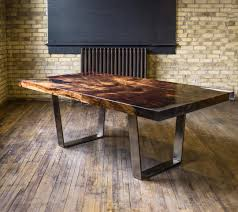 burl wood dining room table large dining table concept with round inch beveled profile glass top