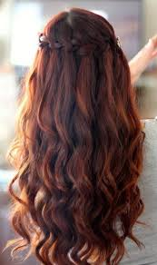 homecoming hair braids instructions homecoming braided hairstyles waterfall braid with spiral curls