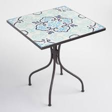 Mosaic Bistro Table Mosaic Square Cadiz Bistro Table World Market