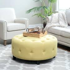 round tufted ottoman tufted ottoman coffee table with shelf