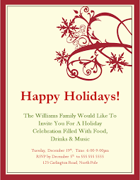 impressive free christmas party invitations and happy holidays and
