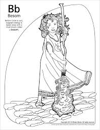 wiccan coloring pages lesser goddesses gods