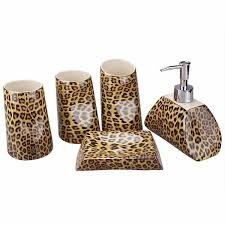 Leopard Bathroom Rugs Impressive Gorgeous Cheetah Bathroom Accessories Sets Animal Print